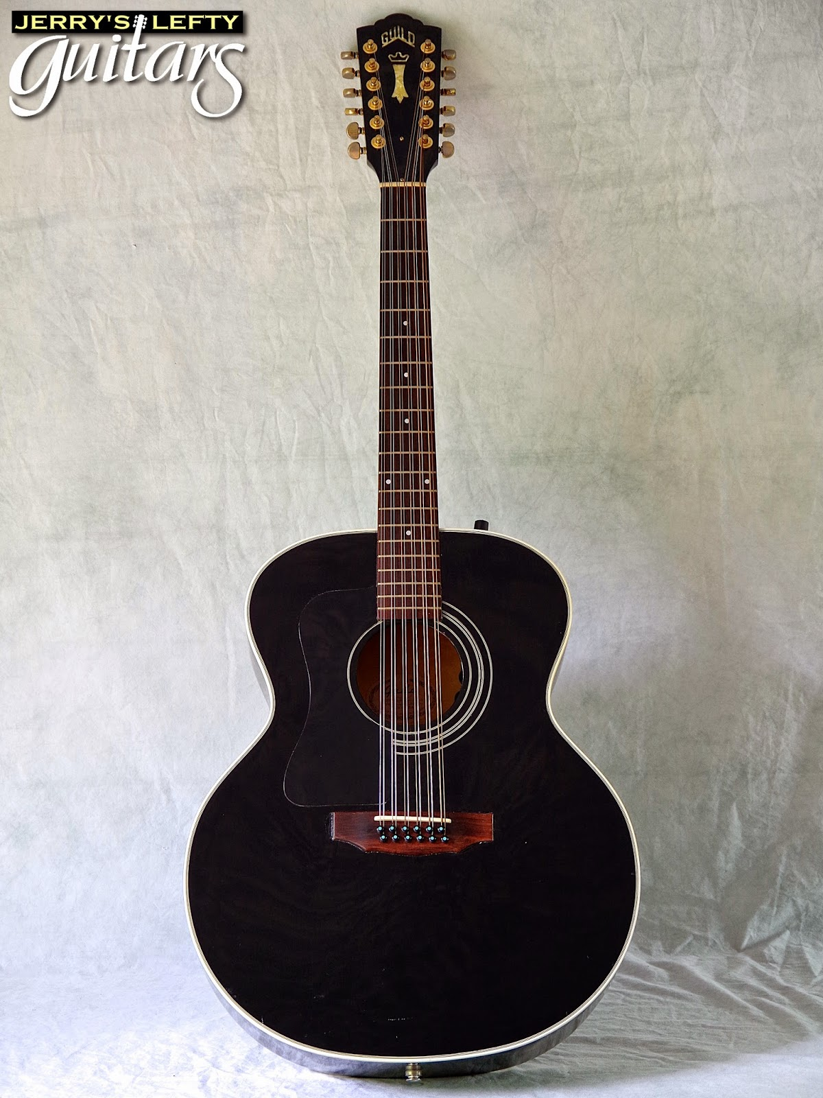 jerry 39 s lefty guitars newest guitar arrivals updated weekly 1997 guild jf30 black 12 string. Black Bedroom Furniture Sets. Home Design Ideas