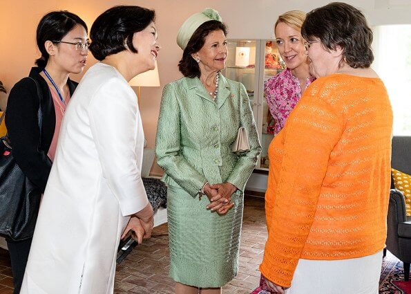 Crown Princess Victoria wore By Malina Ginger dress. Princess Sofia in By Malina. First Lady Kim Jung-sook, Queen Silvia