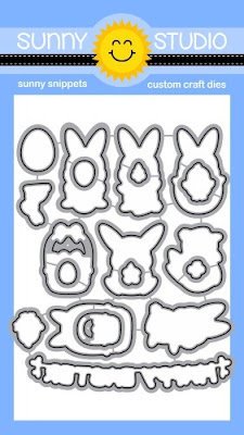 Sunny Studio Stamps: Introducing Chubby Bunny Coordinating Metal Cutting Dies