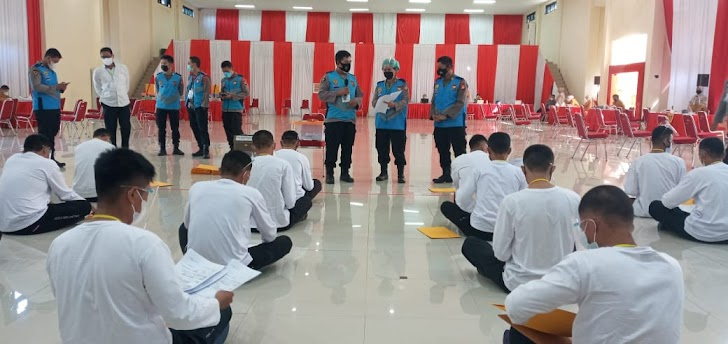 Biddokkes Polda Sulsel, Utamakan Prokes Covid-19, Pada Rikkes Tahap Pertama Casis Bintara TA-2021