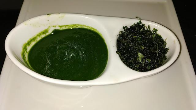 Spinach palak Paste and fry fenugreek leaves Methi leaves