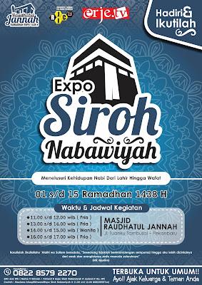 Poster Kegiatan ramadhan - expo siroh nabawiyah