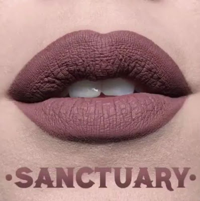 kat von d Everlasting Liquid Lipstick lip swatch sanctuary