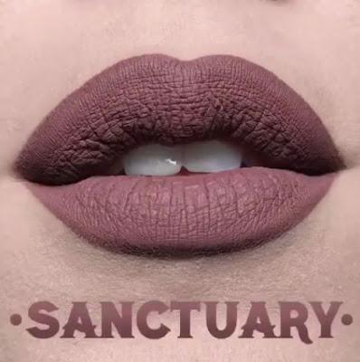kat von d Everlasting Liquid Lipstick lip swatch sanctuary