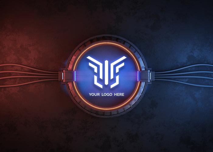 Futuristic Circle Logo Mockup