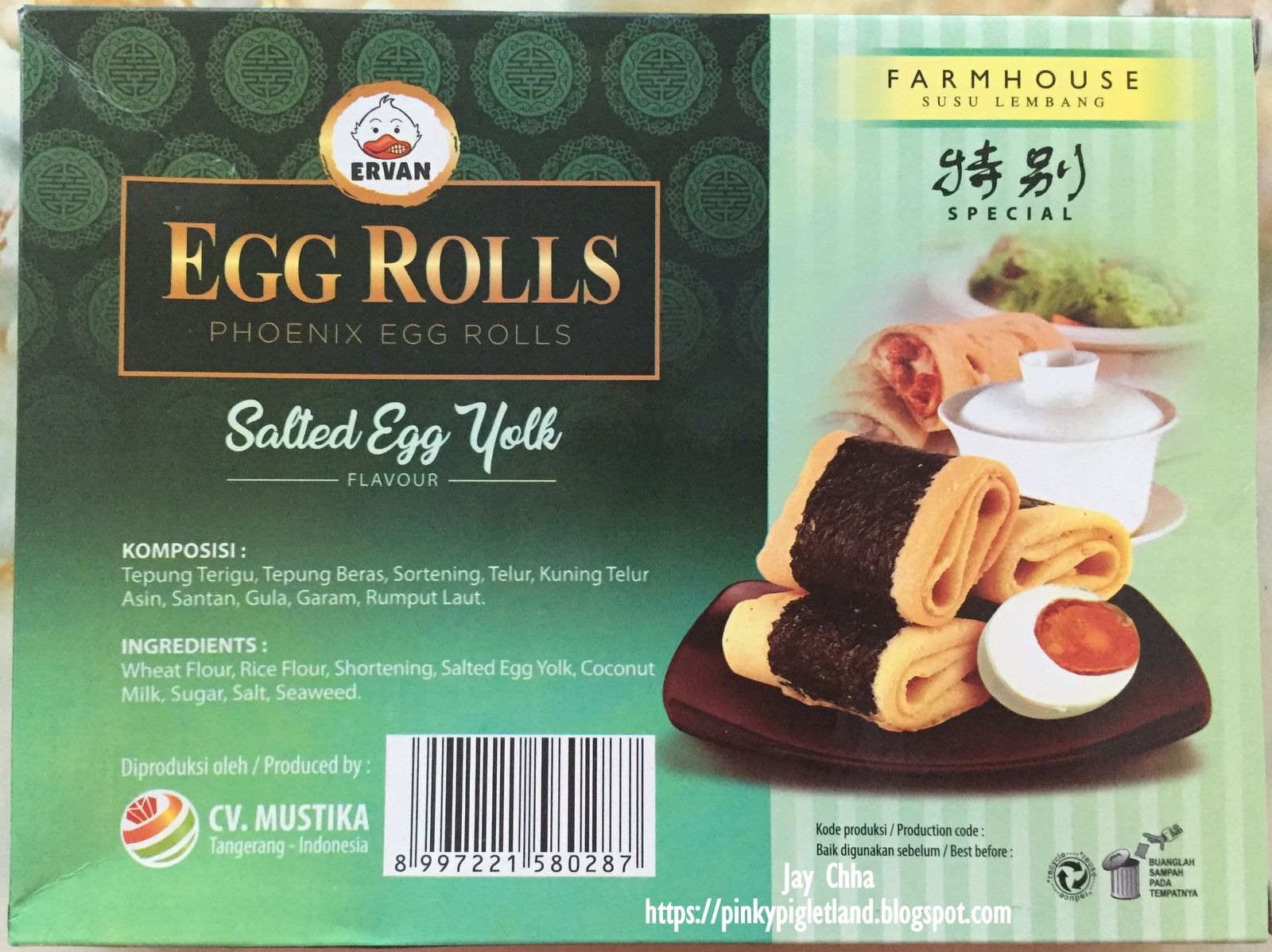 Egg Rolles Phoenix Egg Rolls Farmhouse Susu Lembang Bandung Indonesia