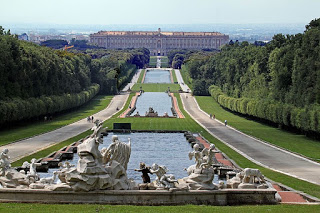 The incredible two-mile long watercourse that stretches down towards the northern facade of the Royal Palace