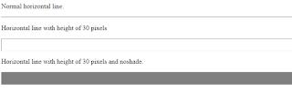 penggunaan beberapa atribut tag hr pada laman html