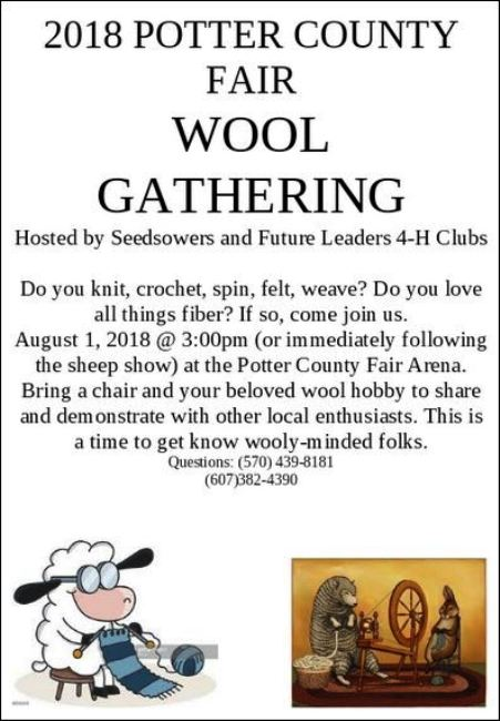 8-1 Wool Gathering @ Potter County Fair