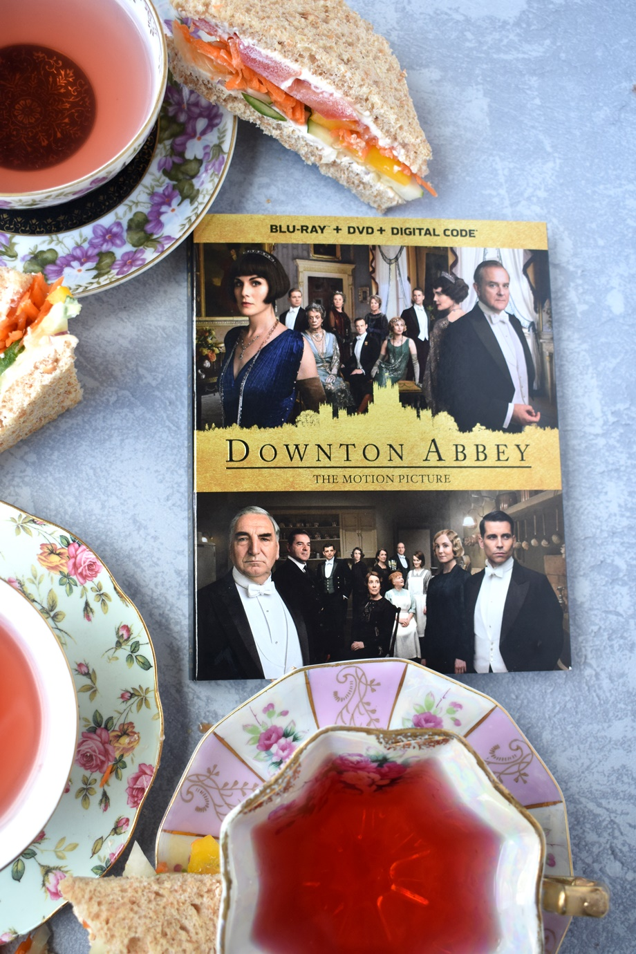 Downton Abbey DVD tea party