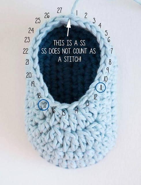 Zapatitos a Crochet - FotoTutorial