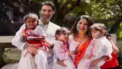 Sunny Leone celebrates Holi with husband Daniel Weber