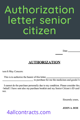 Authorization Letter for Senior Citizen in the Philippines
