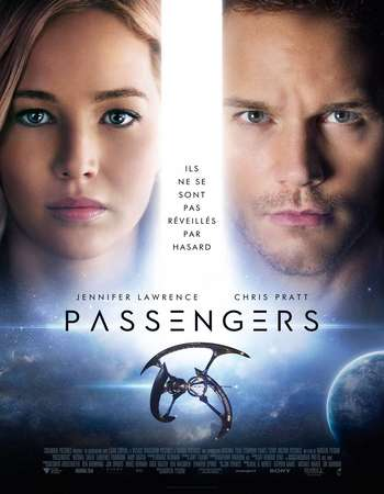 Poster Of Passengers 2016 Dual Audio 720p Web-DL [Hindi - English]  Free Download Watch Online 300mb.cc