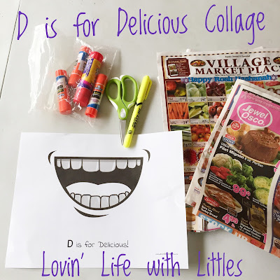 Free Preschool Printable: D is for Delicious!