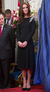 Image result for duchess of cambridge black dress