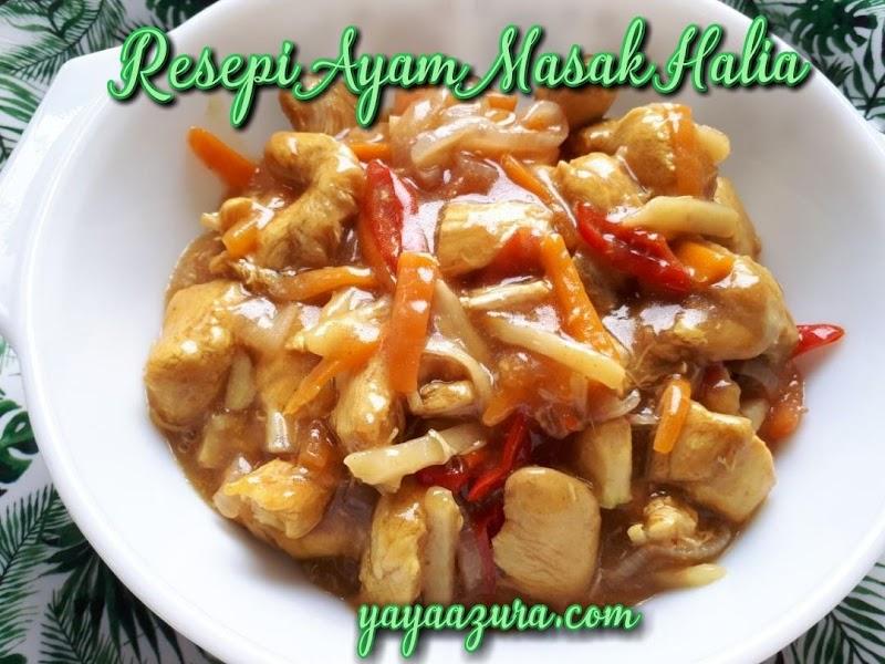 Resepi Ayam Masak Halia Mudah, Guna Bahan Apa Ada Je