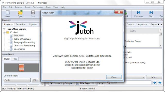 Screenshot Anthemion Jutoh 2.93.2 Full Version