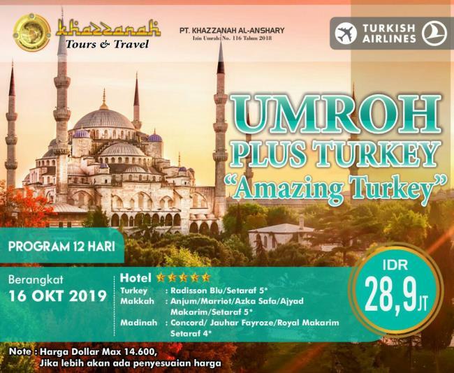 Paket Umroh Plus Turki 2019 Oktober