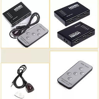 5 Port HDMI Splitter Switcher Selector for HD-DVD STV PS3 Xbox360 1080P