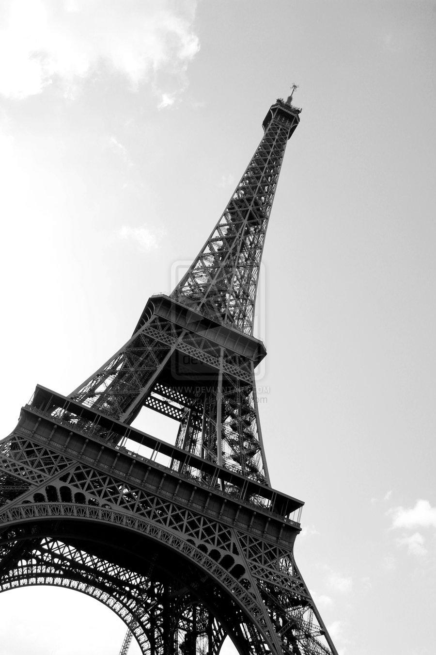 Beautiful Colorful Girls Anime Wallpaper Paris Eiffel Tower Black And White Free Download Wallpaper
