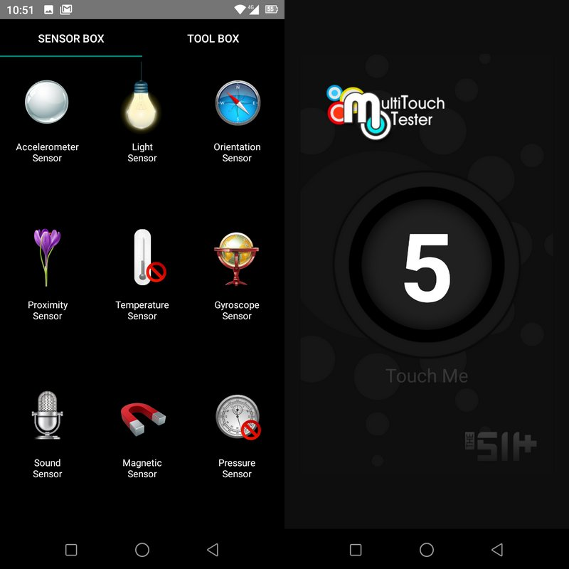 Sensorbox for Android & Multitouch Tester Oukitel WP5