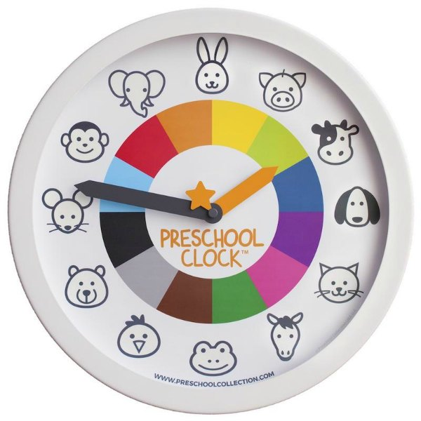 Children telling the time. Preschool Clock.