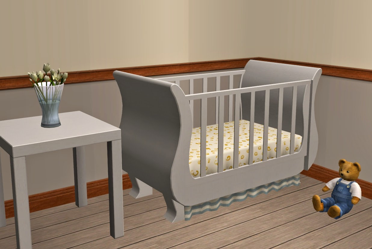 Theninthwavesims The Sims 2 Freetime Sleigh Crib In