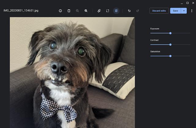 Wir haben die integrierte Galerie-App verbessert, damit ihr Fotos auf Chromebook noch einfacher bearbeiten könnt.