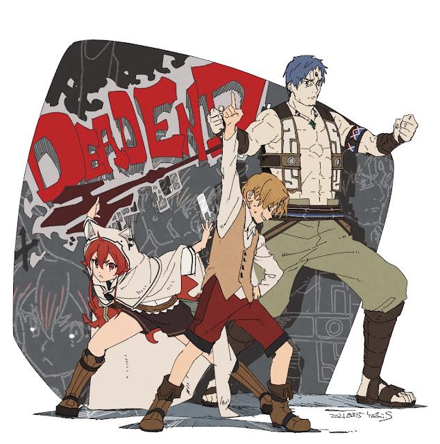 Mushoku Tensei publica dos ilustraciones de su décimo episodio