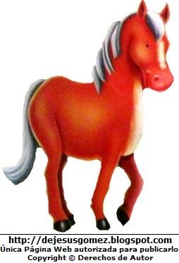 Dibujo del caballo parado de perfil. Caballo hecho por Jesus Gómez