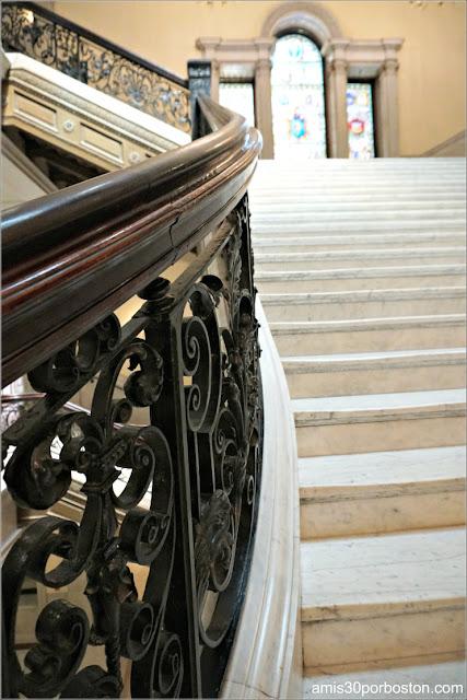 Baranda de Hierro de las Escaleras Principales del Massachusetts State House