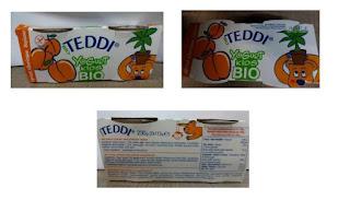 παιδικό επιδόρπιο γιαουρτιού Teddi Yogurt Kids Bio
