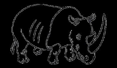 gambar sketsa badak