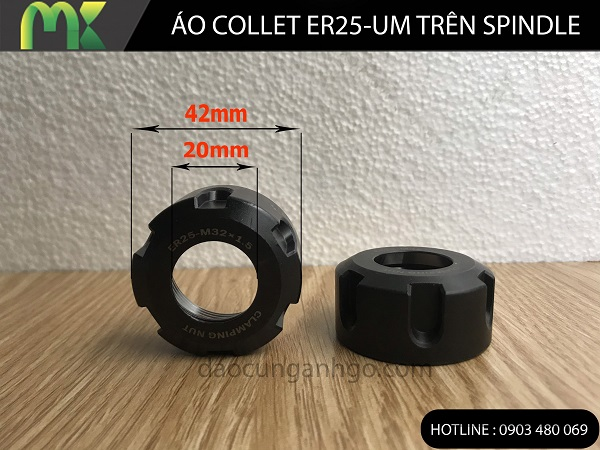 Đai ốc siếc Collet ER25