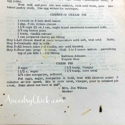 Extension Homemakers Cook Book - Ancestry Chick