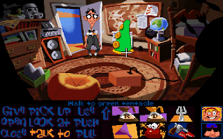Day of the tentacle - Green tentacle bedroom