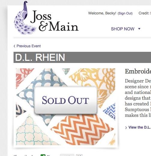 Website Like Joss And Main: Living Livelier: Joss & Main Shut Out?