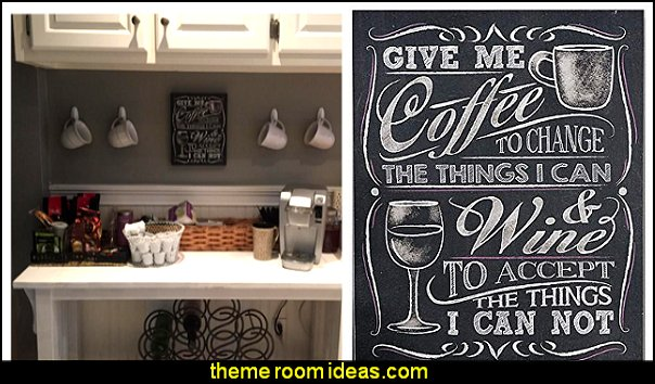 Give Me Coffee Wall Sign Chalkboard