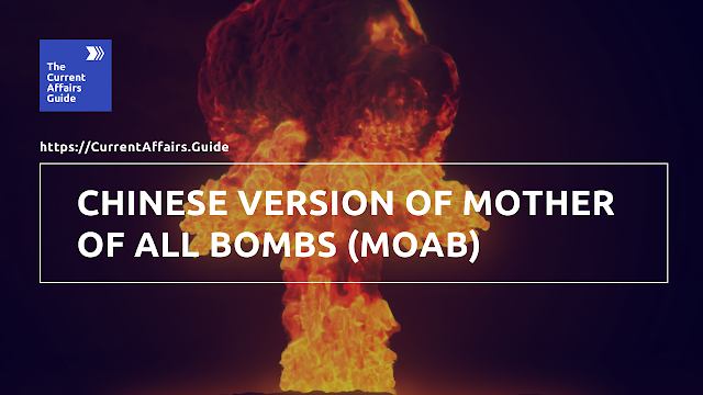 Chinese Version of Mother of All Bombs (MOAB)