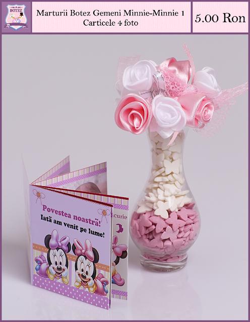produse asortate botez gemeni fata-fata Minnie