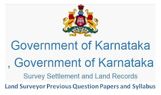 Karnataka Survey Department Land Surveyor Previous Question Papers and Syllabus 2020