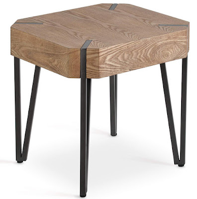 Rustic Industrial Side End Table