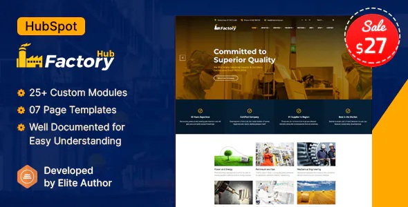 Best Manufacturing Industry HubSpot Theme