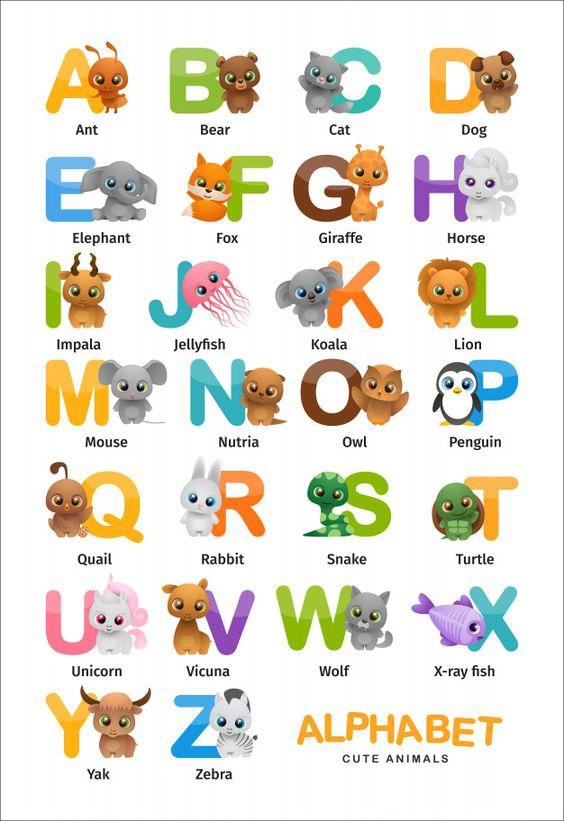 Alphabet Cute Animals