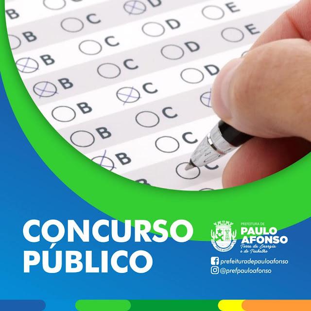 Concurso da Prefeitura de Paulo Afonso/BA prevê  452 vagas para nível  médio, técnico e superior