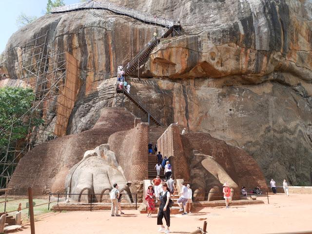 Lions paws staircase - Sigiriya rock, Sri Lanka