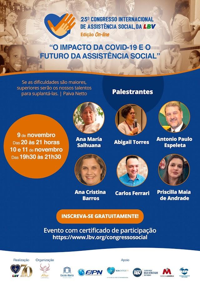 "Evento internacional discute ""a pandemia do novo coronavírus e o aumento das demandas sociais"""