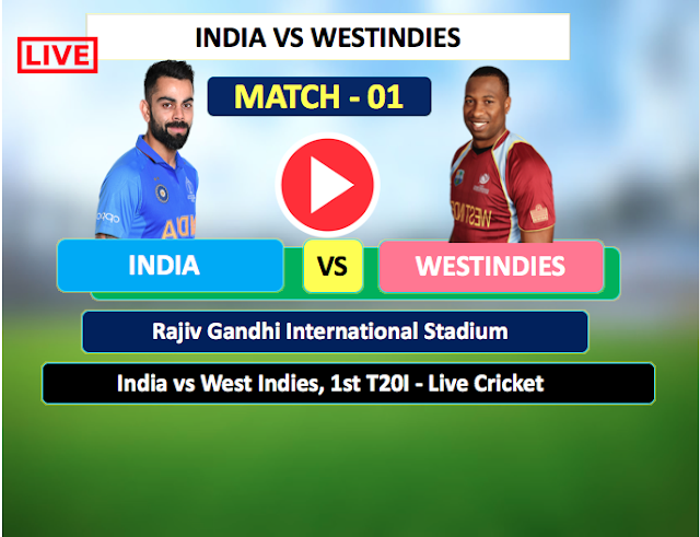 Watch Live Match India  vs  WestIndies - 1st T20 match 6 December,  WestIndies  Tour of India 2019