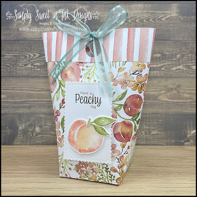Fresh, fun peachy summer fun to make an adorable gift bag with the You're a Peach suite of products.